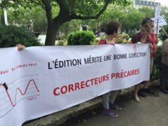 Rassemblement contre la précarité des travailleurs à domicile de l'édition