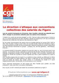 La direction s'attaque aux conventions collectives des salariés du Figaro