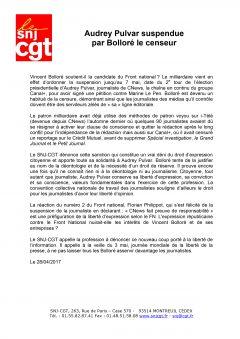 Audrey Pulvar suspendue par Bolloré le censeur