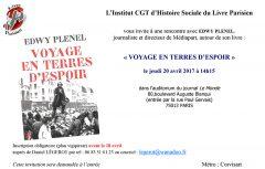 """Ihs du livre Parisien : """"VOYAGE EN TERRES D'ESPOIR"""" Edwy PLENEL"""