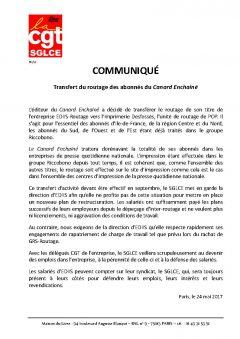 Transfert du routage des abonnés du Canard Enchainé