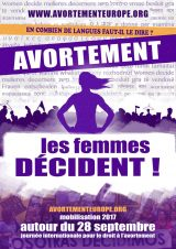 Pour le droit à l'avortement dans toute l'Europe ! Les Femmes décident !