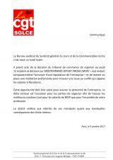 Communiqué du 9 octobre 2017 : MOP