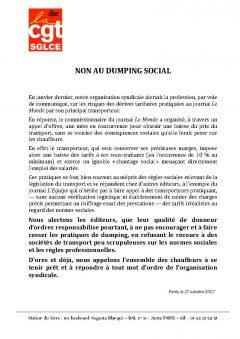 Non au dumping social