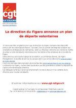 La direction du Figaro annonce un plan de départs volontaires
