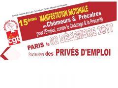 15ème manifestation nationale des chômeurs et précaires