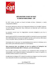 Viapost-Industries – STP : déclaration avant les NAO