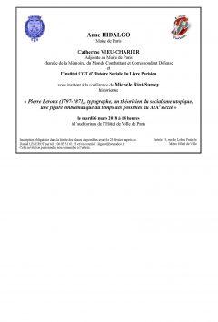 Conférence IHS-LP le 6 mars