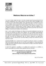 Appel à manifester le 19 avril à 14 h 00 de Montparnasse à Italie