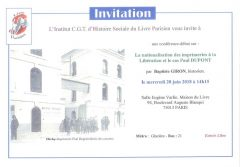 IHS Livre parisien : conférence débat du 20 juin