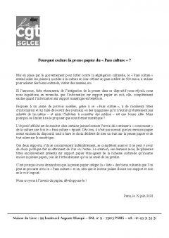 """Pourquoi exclure la presse papier du """"Pass culture"""""""