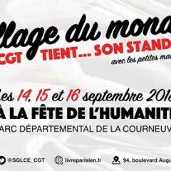 Venez rencontrer les travailleurs et travailleuses de la presse, du livre et de l'édition sur le stand de notre syndicat à la Fête de l'Humanité !
