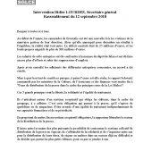Mobilisation du Livre CGT au Palais-Royal le 12/09/18 pour défendre la Loi Bichet