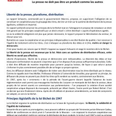Réflexions du SGLCE sur le projet de loi relatif à la distribution de la presse