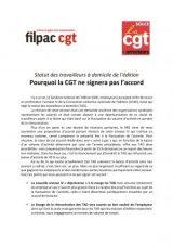 TAD de l'Edition : pourquoi la CGT ne signera pas l'accord
