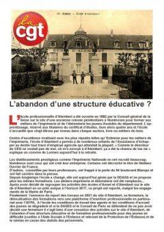 École d'Alembert ou l'abandon d'une structure éducative ?