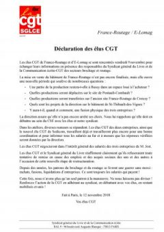 France-Routage / E-Lomag : déclaration des élus CGT