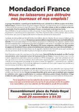 Mondadori : ne laissons pas détruire nos journaux et nos emplois