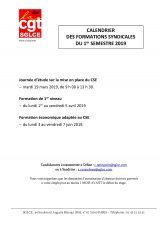 Formations syndicales 1er semestre
