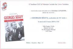 """Rencontre avec l'auteur du livre """"Georges SEGUY, syndicaliste du XXe Siècle"""""""