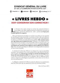 """""""Livres Hebdo"""" doit conserver son correcteur"""