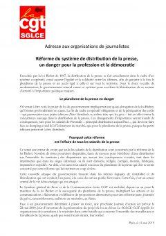 Adresse aux organisations de journalistes : réforme de la distribution de la presse, un danger pour la profession et la démocratie