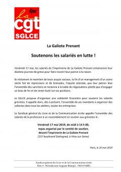 La Galiote Prenant : Soutenons les salariés en lutte !