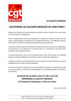 La Galiote Prenant : Soutenons les salariés menacés de sanctions !