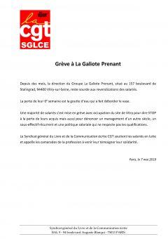 Grève à La Galiote Prenant