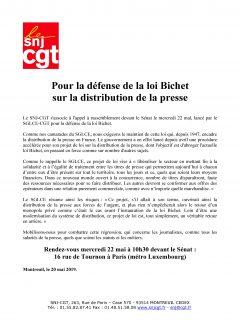 Communiqué du SNJ-CGT : appel pour le rassemblement du 22 mai 2019