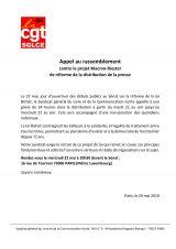 Rassemblement contre le projet Macron-Riester de réforme de la distribution