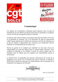 Communiqué sur le projet de modification de la loi Bichet