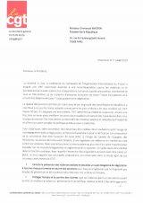 Lettre de Philippe Martinez à Emmanuel Macron