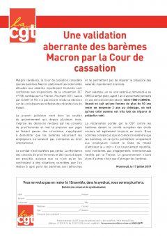 Validation des barèmes Macron concernant les Prud'hommes par la cour de Cassation