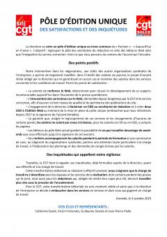 « Le Parisien » : pôle d'édition unique, des satisfactions et des inquiétudes