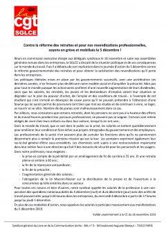 Retraites : appel à la grève le 5 décembre dans la presse, l'édition et le labeur