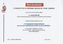[IHS-LP] Conférence sur l'engagement international de la FFTL et de la Filpac
