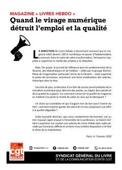 Presse & Édition : casse sociale et professionnelle à « Livres Hebdo »