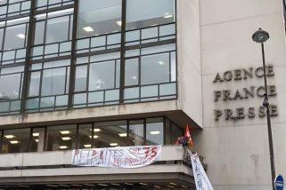 Retraites : action devant l'AFP