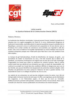 Routage : lettre ouverte au SNCD