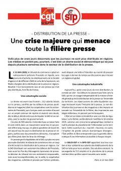 Presstalis : une crise majeure qui menace toute la filière presse
