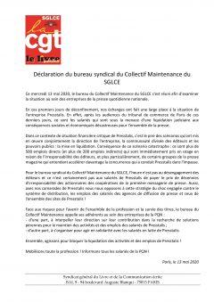 Presstalis : déclarations des collectifs Maintenance et Chauffeurs de presse