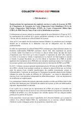Création du Collectif Filpac-CGT Presse