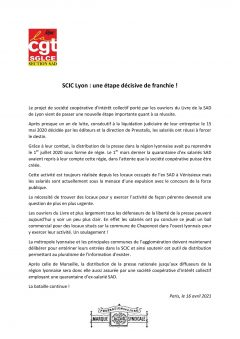 Presse : une étape décisive franchie par la SCIC de Lyon !