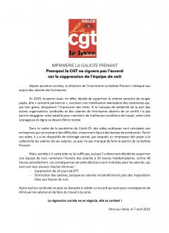 Labeur : non au travail à la carte à l'imprimerie La Galiote !