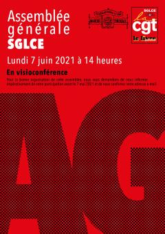 Résolution de l'assemblée générale du SGLCE-CGT